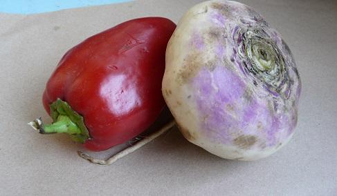 Репа и красный перец